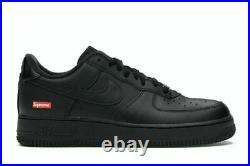 Air Force 1 Low x Supreme Box Logo Black Mens Size 10 CU9225-001 In Hand