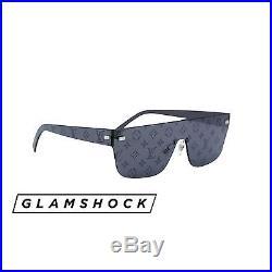 Authentic Louis Vuitton x SUPREME Black CITY MASK Monogram Box Logo Sunglasses