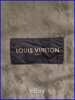 Authentic Louis Vuitton x SUPREME Denim Monogram Box Logo Trucker Jacket 52 L XL