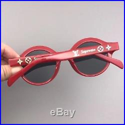 Authentic New Supreme Louis Vuitton Downtown Sunglasses Red LV Box Logo