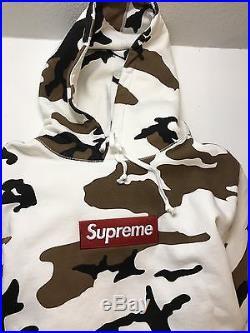Authentic Rare Supreme Box Logo Hooded Sweatshirt Brown Camo Large FW16