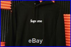 Authentic Supreme 2016 Black Box Logo Hoodie M