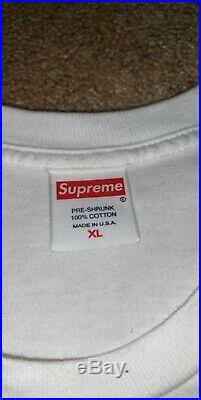 Authentic Supreme Bandana Box Logo Tee White XL Extra Large with Stickers IN HAND