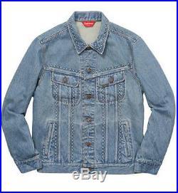 Authentic Supreme Denim Trucker Jacket Vintage Clothing box logo Small S