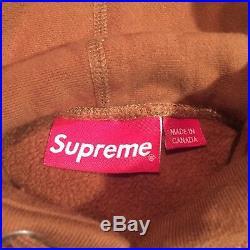 Authentic Supreme FW17 Box Logo Hoodie Sweatshirt Rust Brown Ice Blue XL Bogo