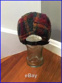 Authentic Supreme NY Plaid Fleece 5 Panel Camp Cap Hat F/W 2014 Bogo Box Logo