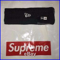 Authentic Supreme Reflective 3M New Era Headband Black Box Logo