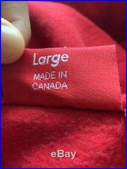Authentic supreme box logo hoodie xl purple on red