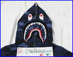 Bape Blue Camo Shark Hoodie Bathing Ape Kaws Supreme Box Logo Lot Tiger Futura