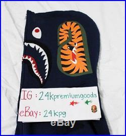 Bape Blue Camo Shark Hoodie Bathing Ape Kaws Supreme Box Logo Lot Tiger Futura