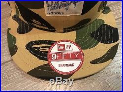 Bape New Era Snapback Rare Supreme Box Logo Camo Wtaps Jerry Fog Tyler Palace FA