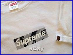 Bape x Supreme Box Logo T Shirt Size M shibuya kermit gucci 100% authentic brick