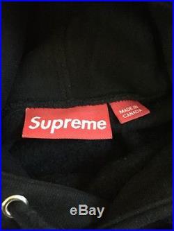 Black Supreme Box Logo Hoodie Sweatshirt Size Large Bape Shark Tee Shirt Rare