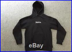 Black Supreme Box Logo Hoodie sz L