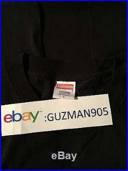 Black Supreme Start Something Shirt Size Large Box Logo Kermit
