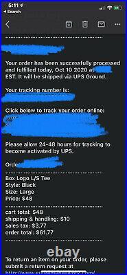 Box Logo L/S Tee Black Large