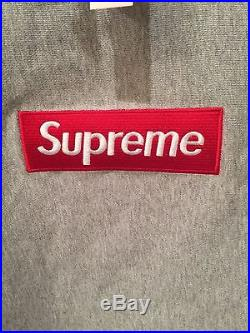 Brand New Supreme Box Logo Hoodie Grey Mens Large