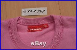 Brand New Supreme F/W 2015 Box Logo Crewneck Pink Size X-Large XL Sweater Hoodie