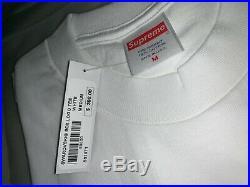 Brand New Supreme Swarovski White/Red Box Logo T-Shirt Medium 25th Anniversary