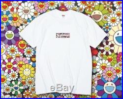 Brand new Supreme X Takashi Murakami Relief Box Logo Tee, Medium, CONFIRMED