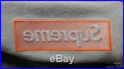 Brand new fw17 GREY/ORANGE Supreme Box Logo Hoodie