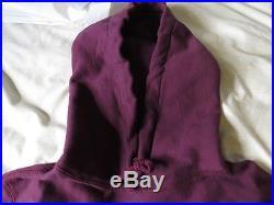 Burgundy Supreme Box Logo Hoodie Size M