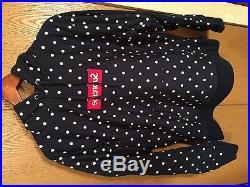 CDG Supreme Comme des Garcons Polka Dot Hoodie Box Logo Navy Size L