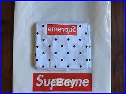 Comme Des Garçons SHIRT Supreme Box Logo Tee White Size Large Cdg Polka Dot