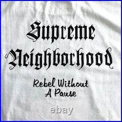 DSWT Supreme Neighborhood Rebel Without a Pause Box Logo Tee Pirate 2006 New