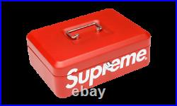 DS New Supreme Lock Box FW17 Box Logo 100% AUTHENTIC Limited lockbox red lunch
