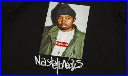 DS New Supreme Nasty Nas Black T-Shirt Tee FW17 Box Logo 100% Authentic Medium M