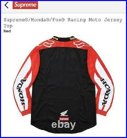 DS SUPREME x HONDA FOX RACING MOTO JERSEY TOP RED BOX LOGO sz L LRG