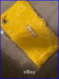 DS Supreme Yellow Bandana Box Logo Hooded Sweatshirt Hoodie Size Medium IN HAND