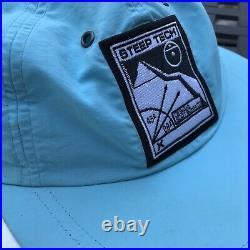 EUC! SUPREME x THE NORTH FACE Steep Tech 6 Panel TNF S/S 2016 Blue Camp Hat