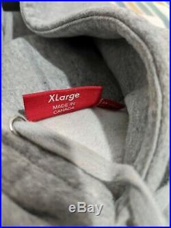 Example Supreme Box Logo Hoodie Heather Grey Size XL / Bogo / Grey Orange FW17