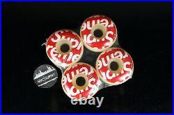 FW07 Supreme Skateboard Wheels Red Box Logo RARE NEW