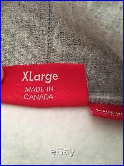 FW14 Supreme Box Logo Hooded Sweatshirt Grey Size XL Hoodie