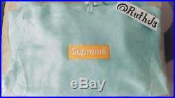 FW17 Medium Supreme Ice Blue Box Logo Hoodie