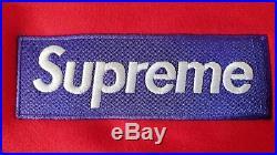 FW17 Medium Supreme Red Purple Box Logo Hoodie