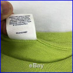 FW17 SUPREME NASTY NAS BOX LOGO PHOTO TEE SHIRT LIME GREEN Size XL Rare