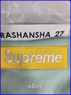FW17 Supreme Box Logo Hoodie New Size Medium Ice Blue With All Tags BOGO