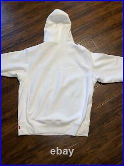 FW20 Supreme S Box Logo Hoodie Size Medium White