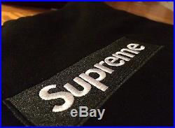 F/W 2013 Supreme Box Logo Hoodie Black Large never worn yeezy