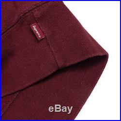 Hoodie Mens Supreme Burgundy color Size XL Box Logo Bogo Pullover Sweatshirt