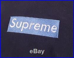 Ice Blue on Navy Box Logo Supreme NY Bogo Large OG RARE 1995 Sample LEGENDARY