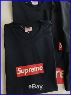 KMART BLANK Supreme Box Logo Tee Shirt Size Large Bogo Navy