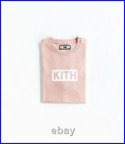 Kith Box Logo Tee Size Large Pink Sold Out Supreme Bape 2017