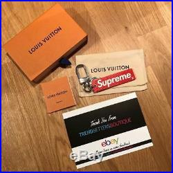 LOUIS VUITTON x SUPREME BOX LOGO LV RED KEYRING FOB KEYCHAIN KEY CHAIN RING EPI