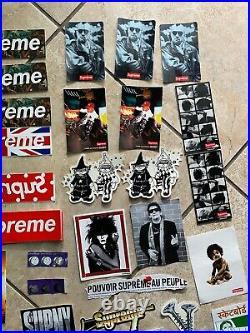 Lot Of 54 Authentic Supreme Stickers Box Logo Biggie Union Jack CDG Undercover