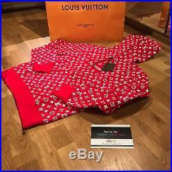 Louis Vuitton Supreme Box Logo Hoodie 100% Authentic Monogram L Large LV 1a3fbu